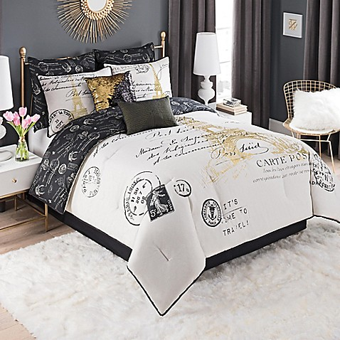 image of Paris Gold Comforter Set