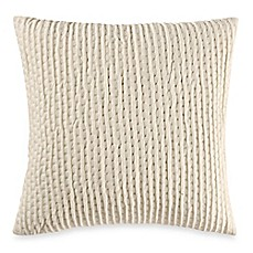 image of Make-Your-Own-Pillow Ticker Stitch Square Throw Pillow Cover