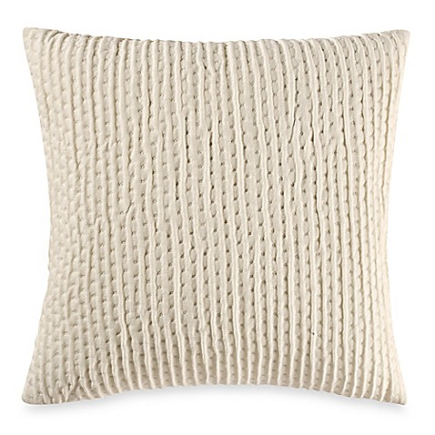 make your own pillow ticker stitch square throw pillow cover bed bath beyond. Black Bedroom Furniture Sets. Home Design Ideas