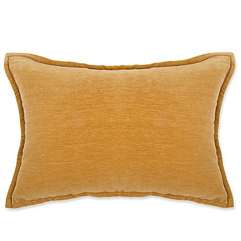 Gold Rectangle Throw Pillow : Buy Make-Your-Own-Pillow Sola Chenille Rectangle Throw Pillow Cover in Gold from Bed Bath & Beyond