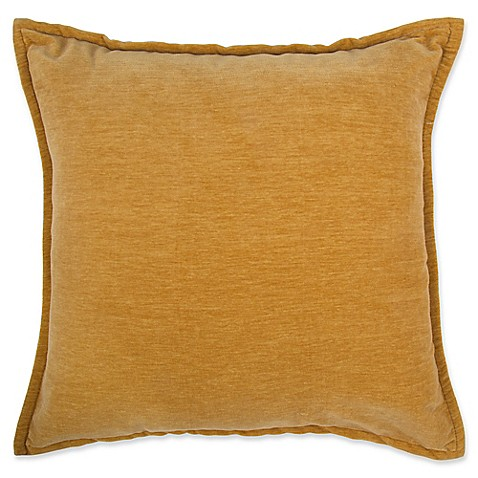Buy Make-Your-Own-Pillow Sola Chenille Square Throw Pillow Cover in Gold from Bed Bath & Beyond