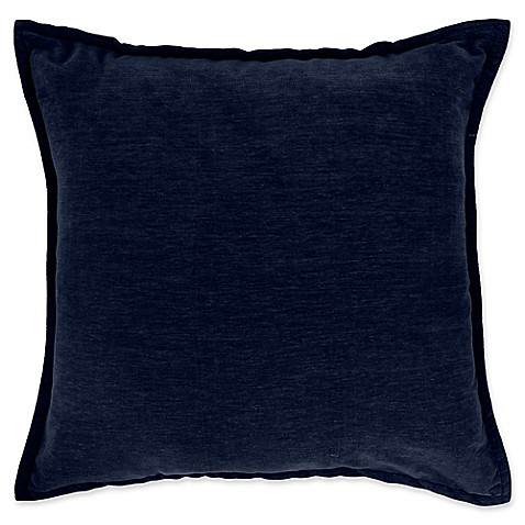 Chenille Throw Pillow Covers : Buy Make-Your-Own-Pillow Sola Chenille Square Throw Pillow Cover in Navy from Bed Bath & Beyond