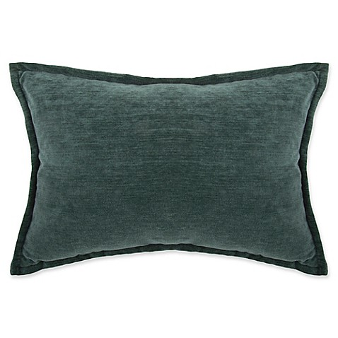 Buy Make-Your-Own-Pillow Sola Chenille Rectangle Throw Pillow Cover in Teal from Bed Bath & Beyond
