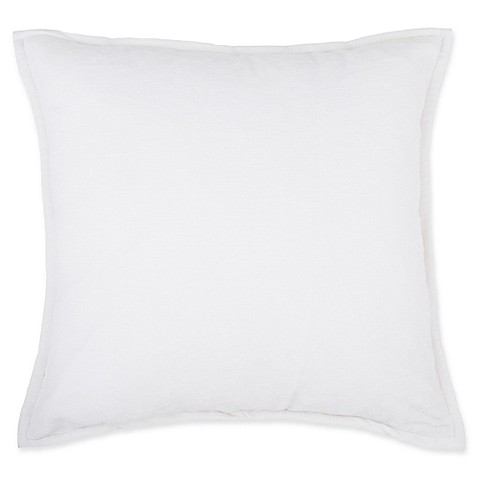 How To Make Your Own Throw Pillow Covers : Buy Make-Your-Own-Pillow Sola Chenille Square Throw Pillow Cover in White from Bed Bath & Beyond