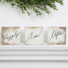 image of Happily Ever After Shelf Blocks (Set of 3)