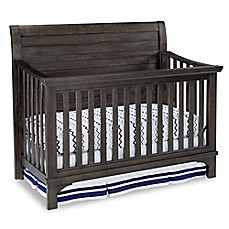 image of Westwood Design Taylor 4-in-1 Convertible Crib in River Rock Brown/Black