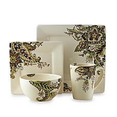 image of Tabletops Unlimited® Angela Square 4-Piece Place Setting