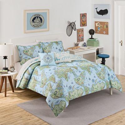 World map bedding bed bath beyond waverly kids buon viaggio reversible comforter set gumiabroncs Images