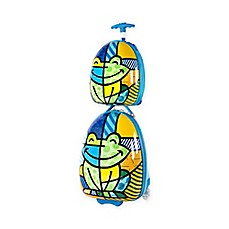 image of Heys® Britto™ 2-Piece Blue Frog Kids Luggage and Backpack Set