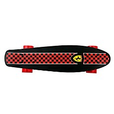 image of Ferrari Penny 22.5-Inch x 6-Inch Skateboard in Black Checkerboard