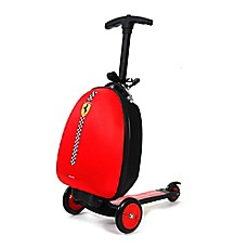 image of Ferrari 3-Wheel Trolley Bag Scooter in Red