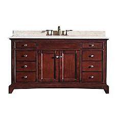 Image Of Eviva Elite Stamford® 60 Inch Single Bathroom Vanity In Brown/Cream