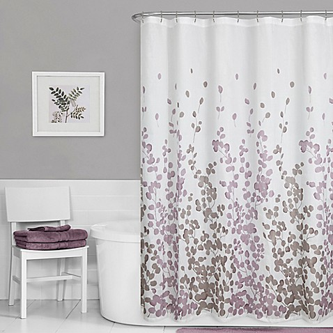BROSHAN Leaf Print Shower Curtain Fabric,Tropical Green Leaf Palm Leave Jungle.