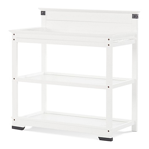 child craft redmond changing table in matte white