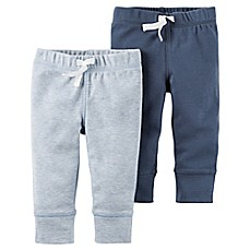 image of carter's® 2-Pack Babysoft Pant in Blue