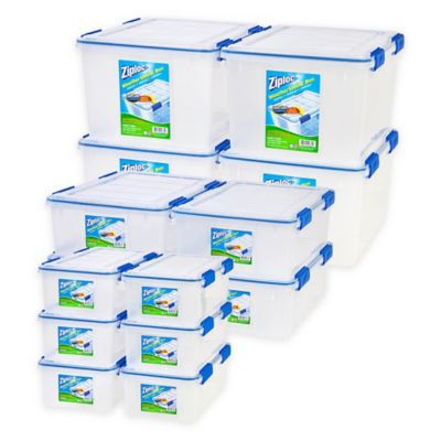 image of Ziploc® WeatherShield Storage Box Sets in Clear