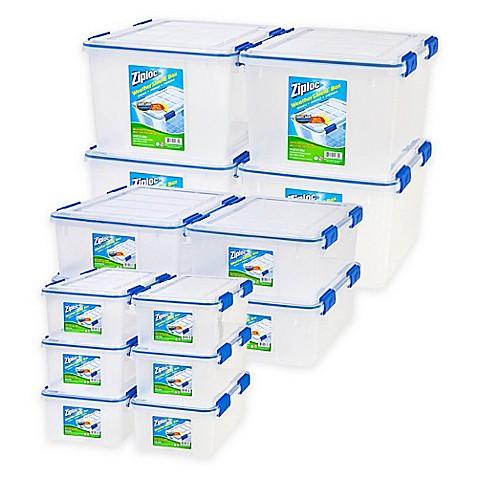Ziplocu0026reg; WeatherShield Storage Box Sets In Clear