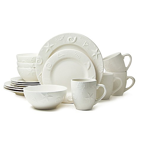 Thomson Pottery Seashells 16-Piece Stoneware Dinnerware Set  sc 1 st  Bed Bath u0026 Beyond & Thomson Pottery Seashells 16-Piece Stoneware Dinnerware Set - Bed ...