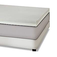 combination memory foam 4inch mattress topper in greywhite