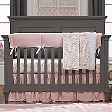 image of Liz and Roo Petal Pink Linens Crib Bedding Collection