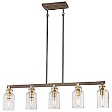 image of Minka-Lavery® Morrow 5-Light Island Pendant in Harvard Court Bronze