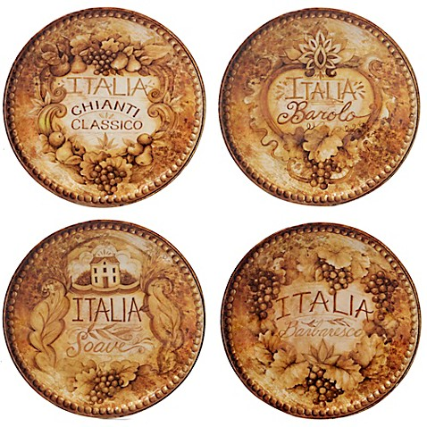 Certified international gilded wine canape plates set of for What are canape plates