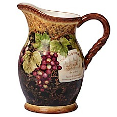 image of Certified International Gilded Wine Pitcher