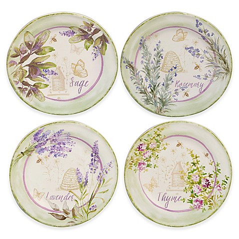 Certified International Herbes De Provence Salad Plates In
