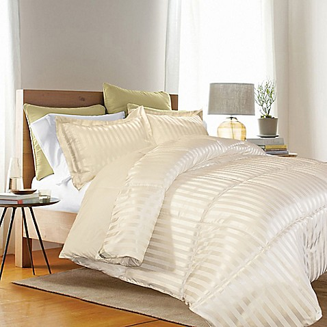 Buy kathy ireland reversible down alternative king comforter set in ivory from bed bath beyond for Home design down alternative color king comforter