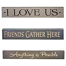 Inspirational Wood Plaque Wall Art Collection