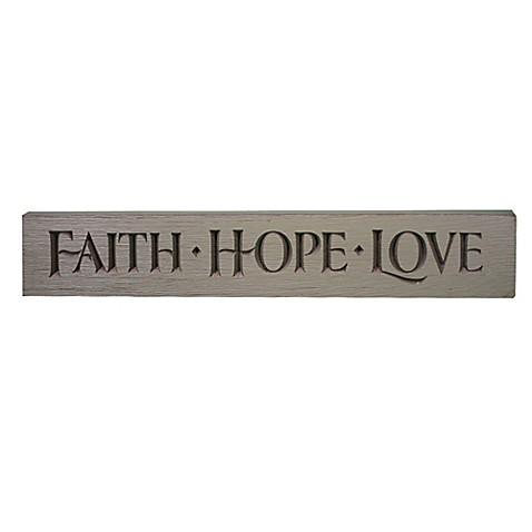 Faith/Hope/Love  Wood Plaque Wall Art  sc 1 st  Bed Bath u0026 Beyond & Faith/Hope/Love