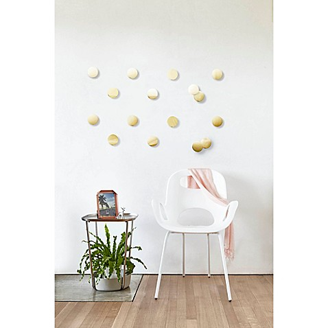 image of umbra confetti dots wall dcor set in brass - Apartment Room Decor
