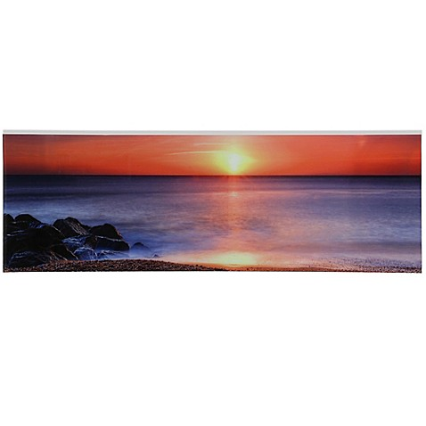 sunrise hush 60 inch x 20 inch tempered glass wall art bed bath beyond. Black Bedroom Furniture Sets. Home Design Ideas