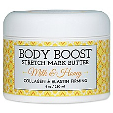 image of basq 8 oz. Body Boost Stretch Mark Butter in Milk and Honey