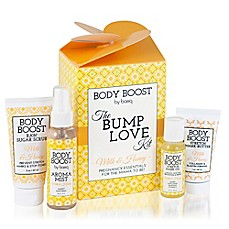 image of basq 4-Piece Body Boost The Bump Love Kit in Milk and Honey