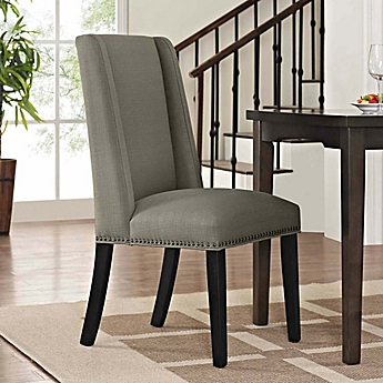 Image Of Modway Baron Fabric Dining Side Chair