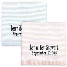 Personalized baby blankets custom baby throws bed bath beyond image of elegant baby striped fine gauge knit blanket negle Images