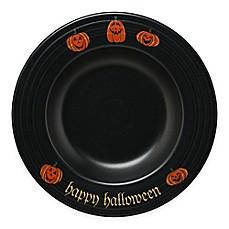 fiesta halloween trio of happy pumpkins pasta bowl in black