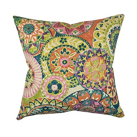 Jacobean Throw Pillows : Vesper Lane Jacobean Square Throw Pillow in Pastel Pink - Bed Bath & Beyond