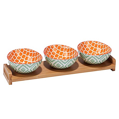 Certified International Chelsea Mix And Match Ikat 4 Piece Serving Set Bed Bath Beyond