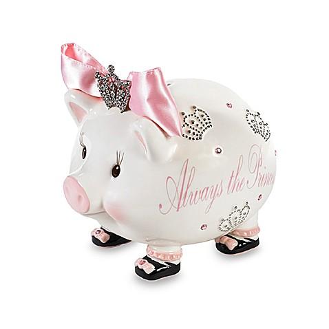 Mud pie always the princess jeweled bank bed bath beyond - Extra large ceramic piggy bank ...