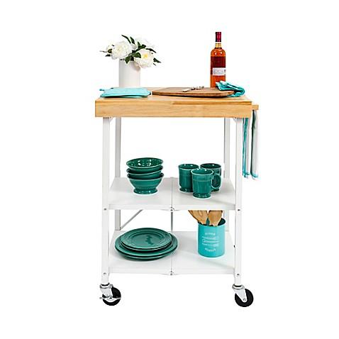 origami foldable kitchen cart bed bath beyond. Black Bedroom Furniture Sets. Home Design Ideas