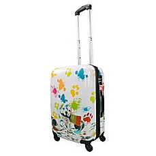 image of Chariot 20-Inch  Hardside Spinner Suitcase in Paint Puppy