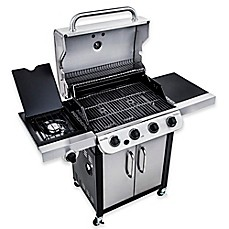 image of Char-Broil® Performance™ 463377017 Cabinet 475 4-Burner Gas Grill in Black/Stainless Steel