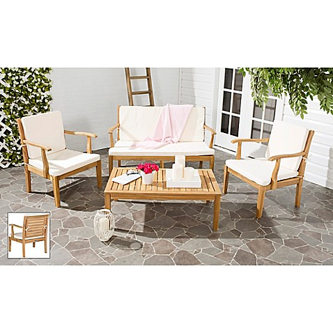 Buy Safavieh Fresno 4 Piece Patio Furniture Set From Bed