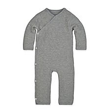 image of Burt's Bees Baby® Quilted Kimono Coverall in Grey