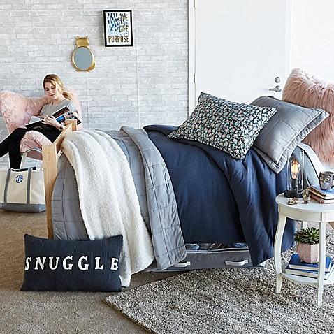 Snuggle Navy & Grey Bedroom - Bed Bath & Beyond