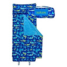 image of Stephen Joseph® Shark Print  Nap Mat in Blue