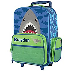image of Stephen Joseph® Shark Rolling Luggage in Blue