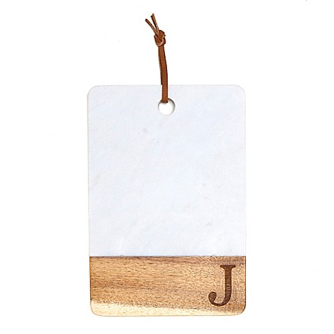Artisanal Kitchen Supply 174 Monogram Marble And Acacia Wood